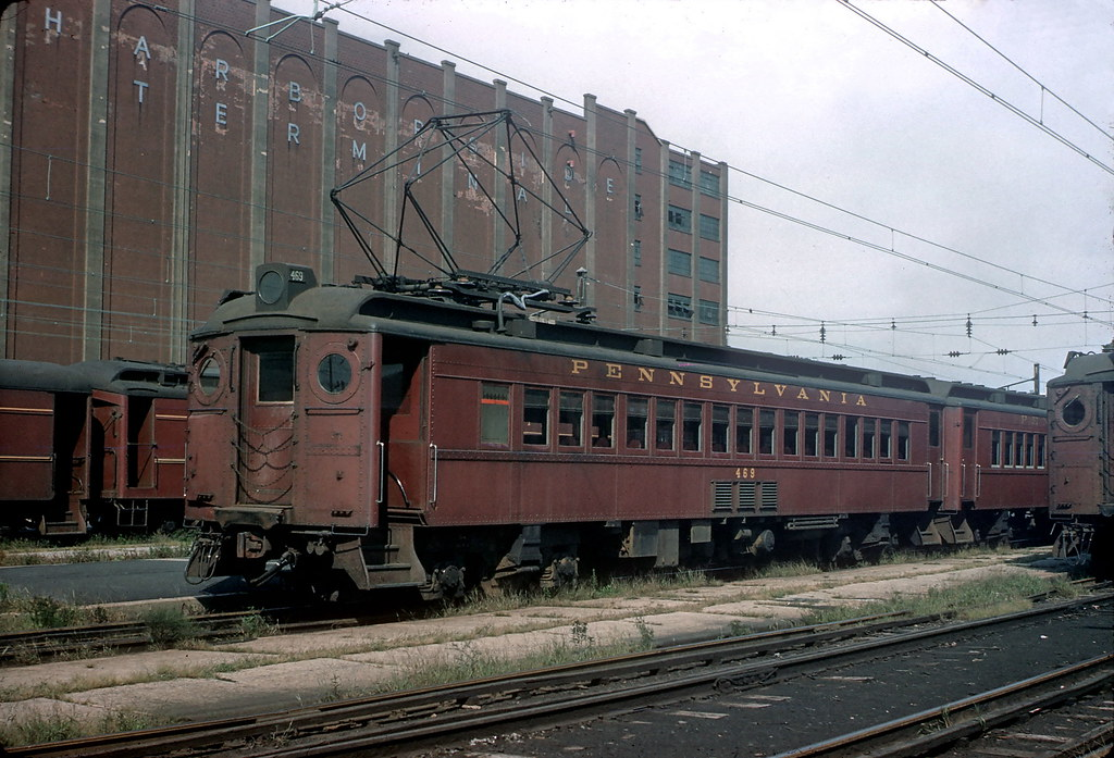 PRR MP-54 469 8-25-60 | Pennsy MP-54 469 at Exchange Place