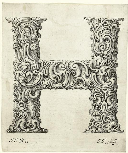 009-Letra H-Libellus Novus Elementorum Latinorum -J. C. Bierpfaff-  Rijksmuseum