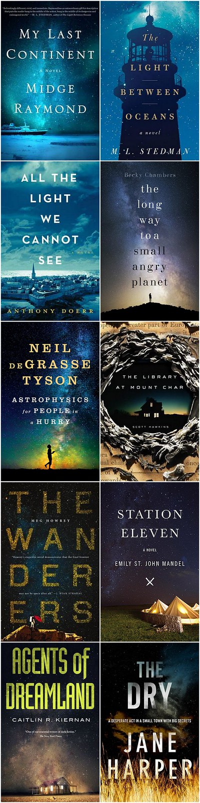 night sky book covers