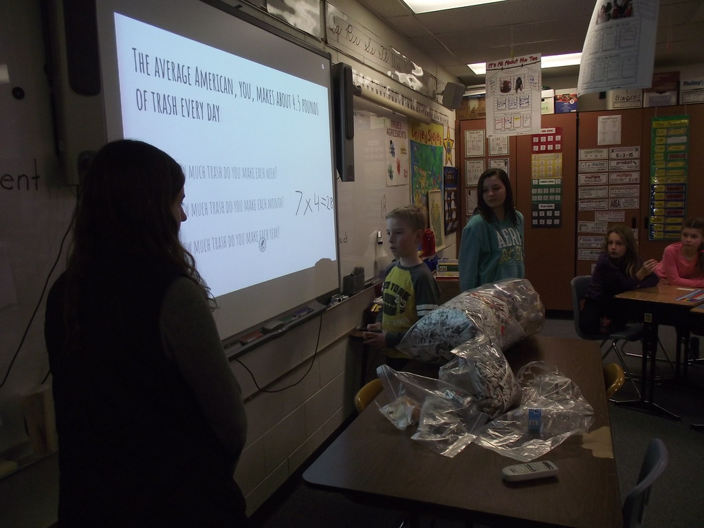 Third-grade recycling program