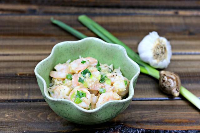 garlic ginger and scallion shrimp