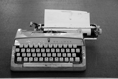 An old typewriter | by Ania Mendrek