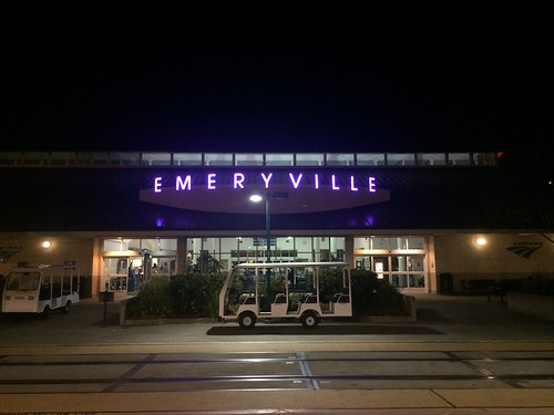 EMY - Emeryville Amtrak station last night (Full frame view) | by ashleyv