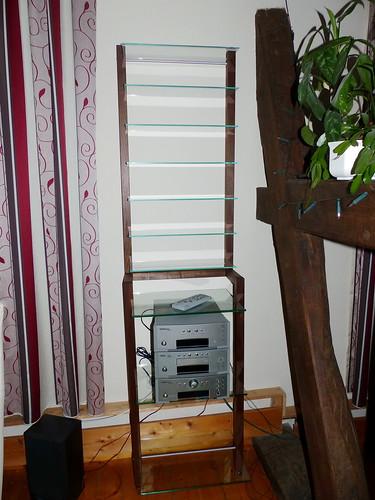 kundenfoto kombination aus lp regal und cd regal nussbaum flickr. Black Bedroom Furniture Sets. Home Design Ideas