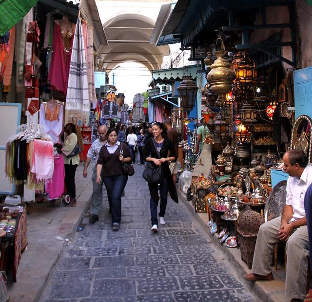 A random street in Tunis