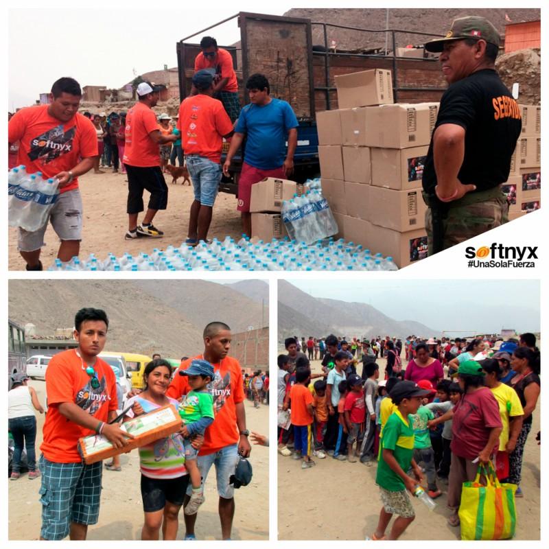 Softnyx entregó donaciones a familias damnificadas en Chosica