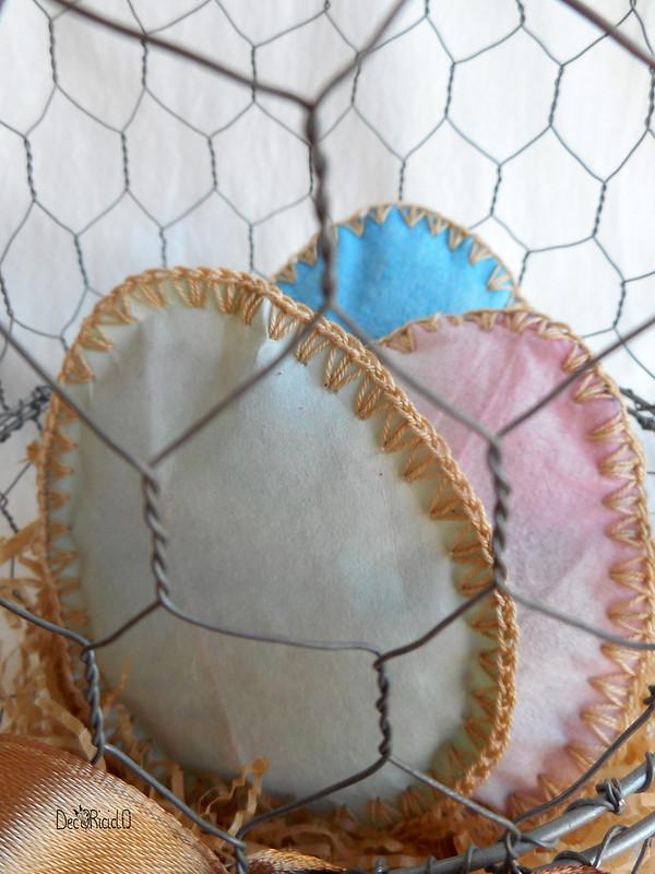 cestino a forma di uovo di rete da conigliera 6