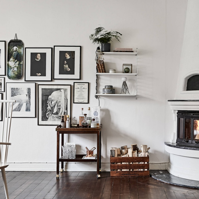 Scandinavian Home with Dark Wood Floors
