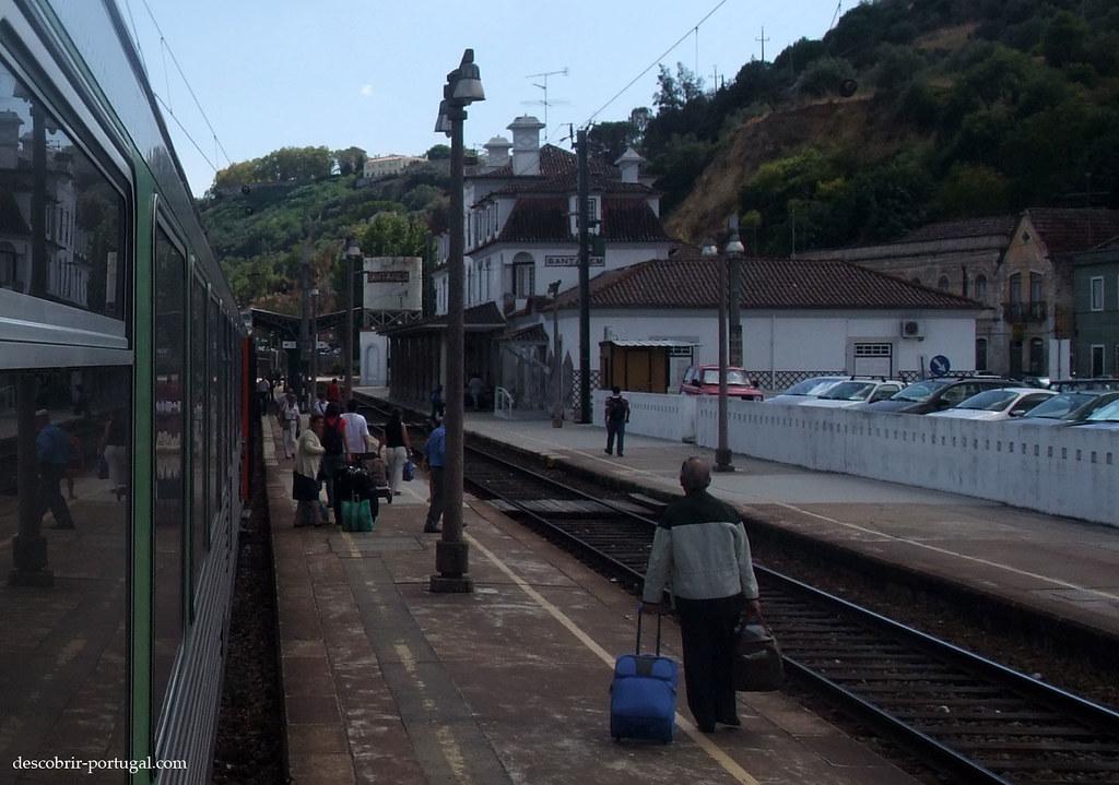 Arrivée en gare de Santarém