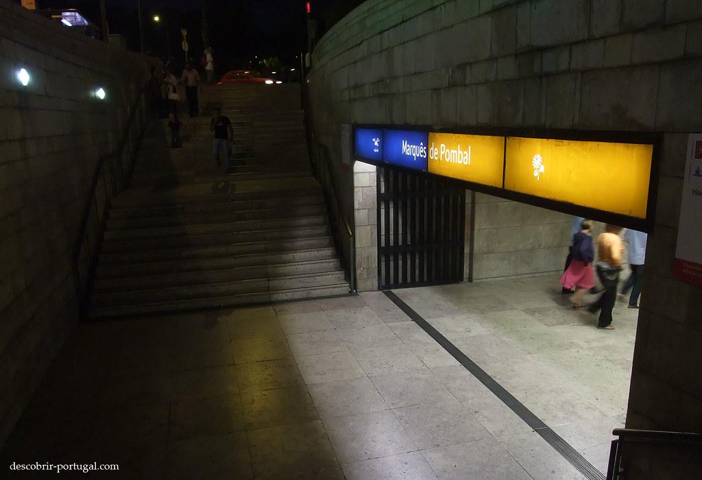 Entrée de la station Marquês de Pombal