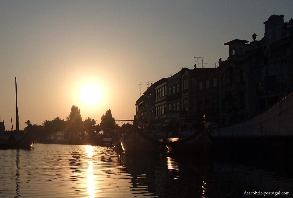 Les moliceiros au soleil couchant