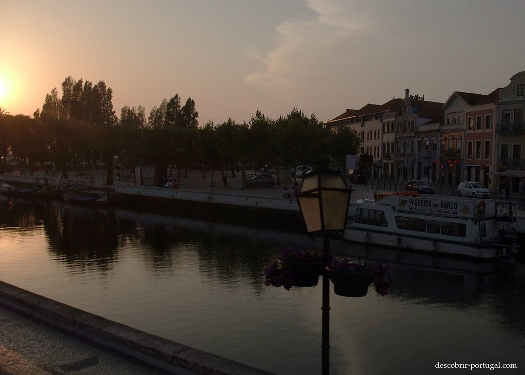 Soleil couchant sur Aveiro