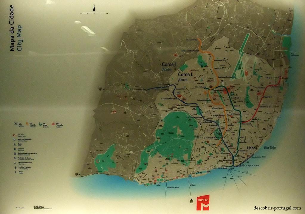 Carte de la ville et de son métro