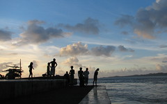 Local Kids in Palau at Sunset