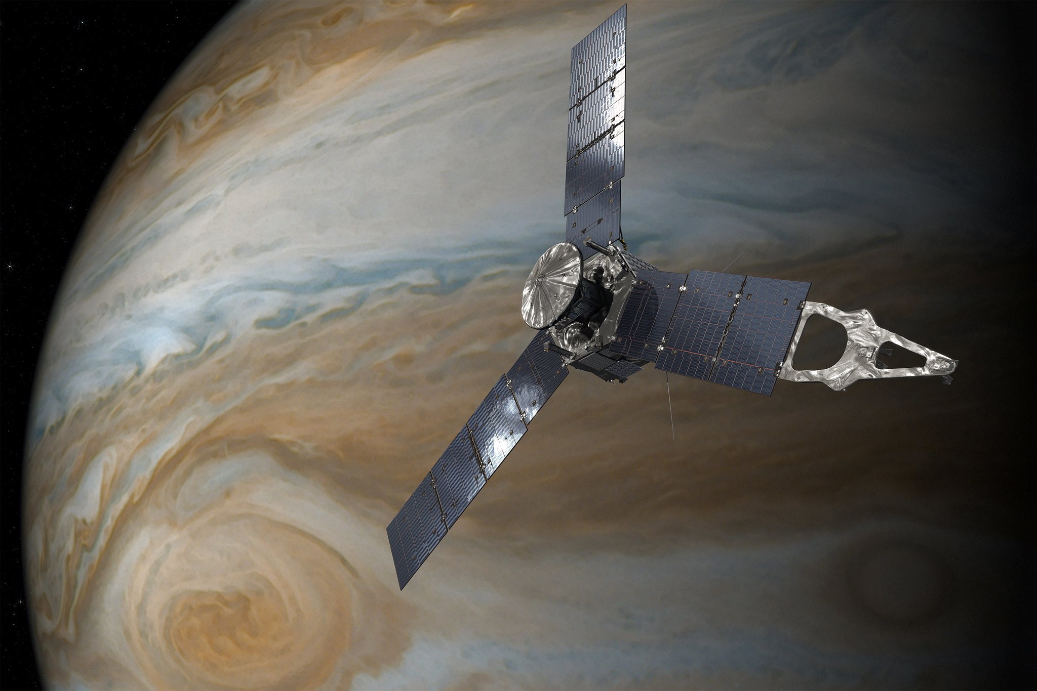 See Dramatic Cyclones Churning on Jupiter's Surface in These New NASA Photos