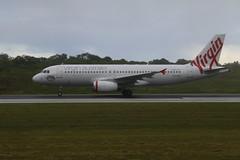 Landed - VH-VNP Virgin Australia A320-231 - Christmas Island