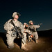 Tatical patrols at night in Iraq