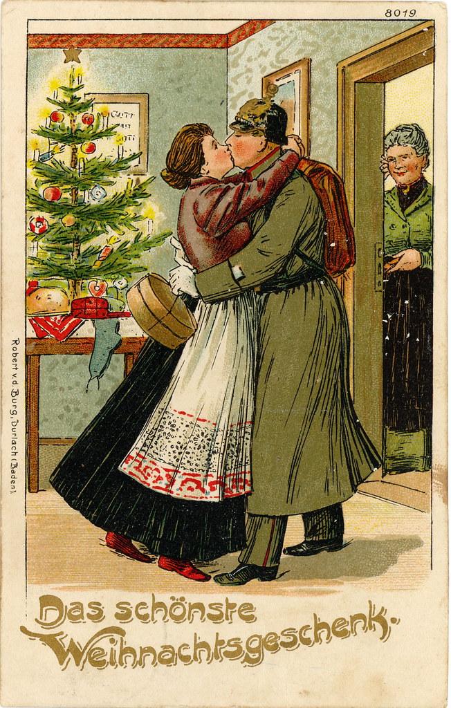 """wwi german christmas postcard  """"das schönste weihnachtsge"""