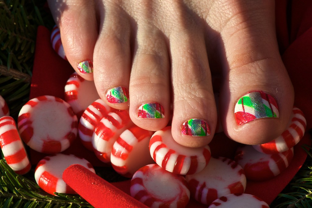 Toe Nail Designs Hot Pink