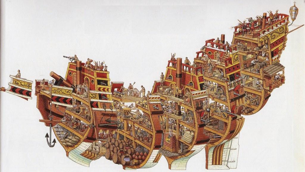 Stephen Biesty Spanish Galleon Cutaway   Another wonderful i      Flickr