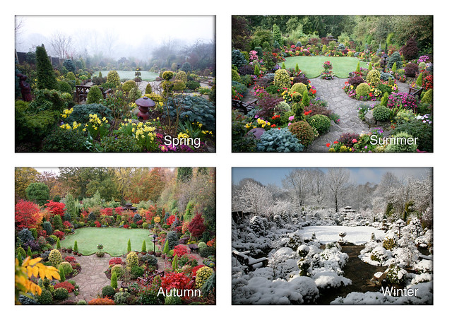 Four seasons upper garden spring summer autumn winter for Gardening 4 all seasons