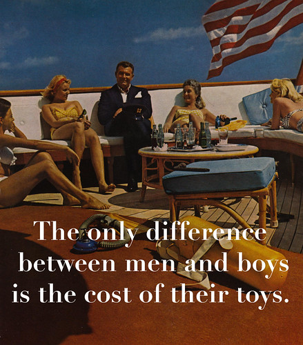 Boys And Their Toys : The only difference between men and boys is cost of th