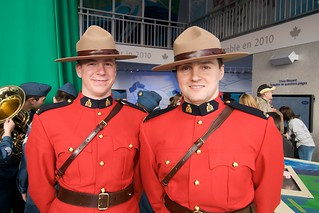 Mounties at Canada Pavillion Livecity Downtown Vancouver 2010 Olympics | by Duncan Rawlinson - Duncan.co - @thelastminute