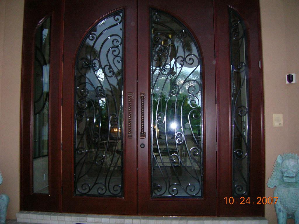 Custom Mahogany Exterior Double Doors Impact Rated Flickr
