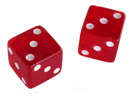 CHOOSE DETERMINISM dice   a pair of dice with the number 3