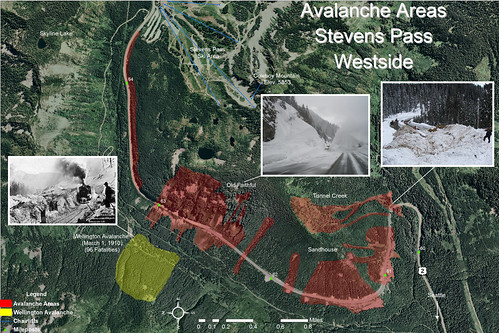 Stevens Pass - Avalanche Paths | by WSDOT