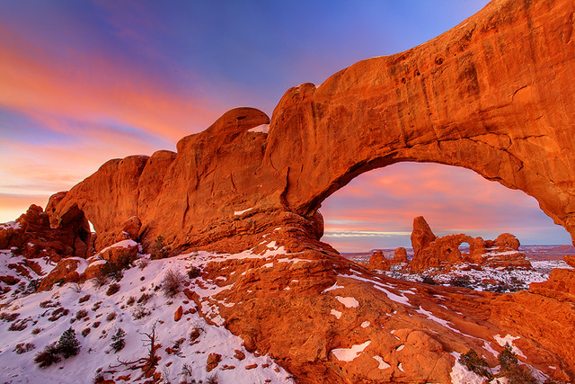 Arches National Park, Turret Arch Sunrise