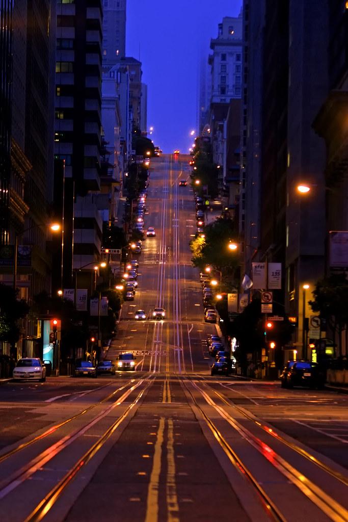 San Francisco View Big On Black California Street San