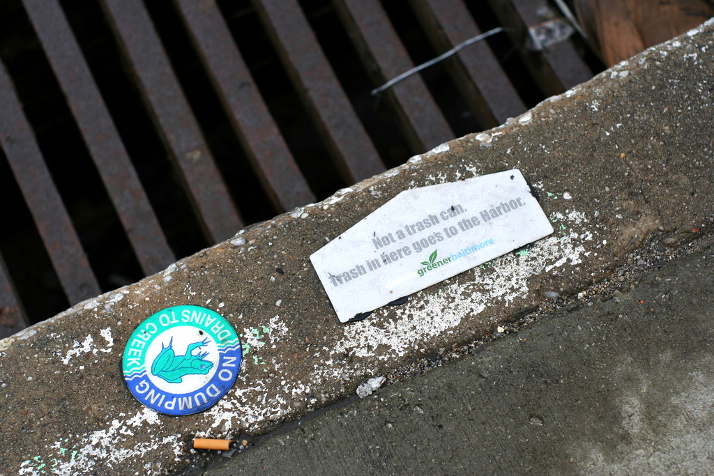 Storm drain signage. Photo Credit Isaac Wedin