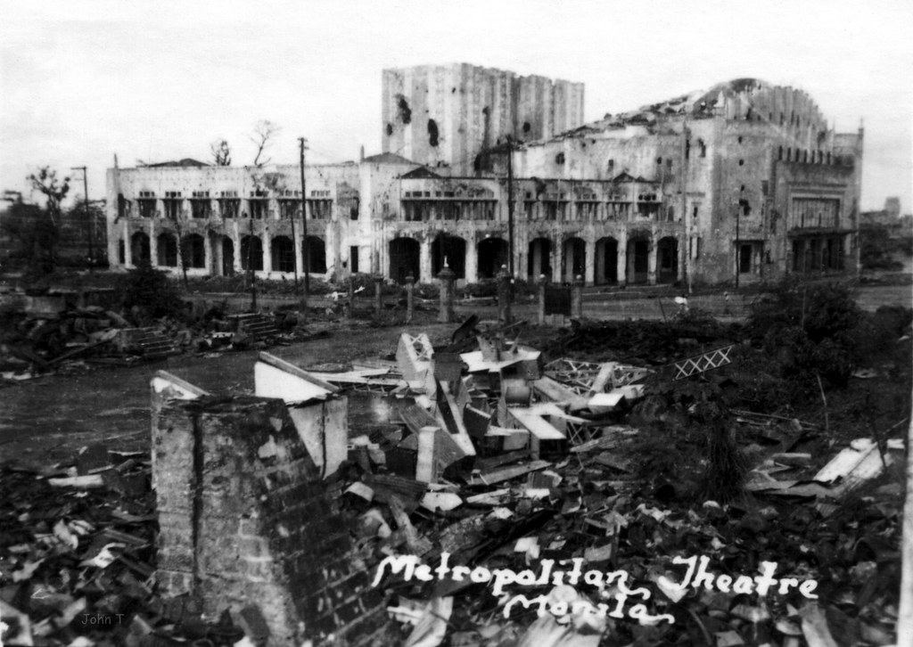 1945 War torn Metropolitan Theater, Manila, Philippines ...