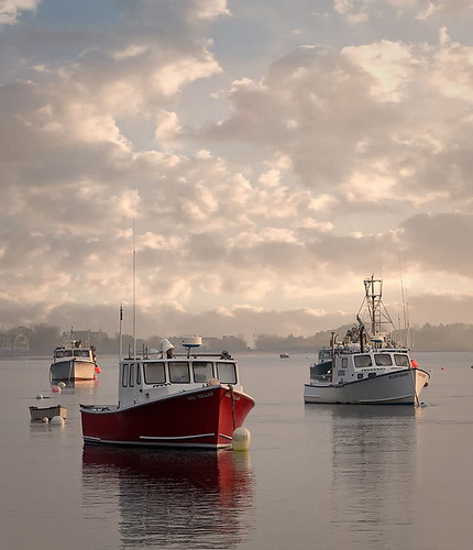 Fishing Boats And Fog At Chatham Harbor Cape Cod There
