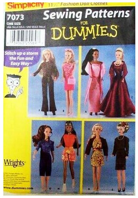 Simplicity 7073 Sewing Patterns For Dummies 11andhalf Inch Flickr
