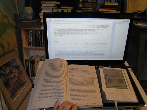 Reading with Kindle in my Study | by brewbooks