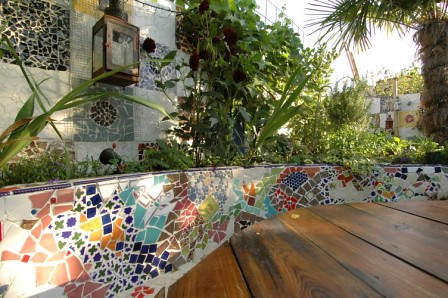 The mosaic garden by earth designs for Garden mosaic designs