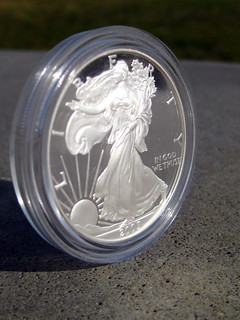 Eagle landing   Proof Silver American Eagle coin   Eric ...