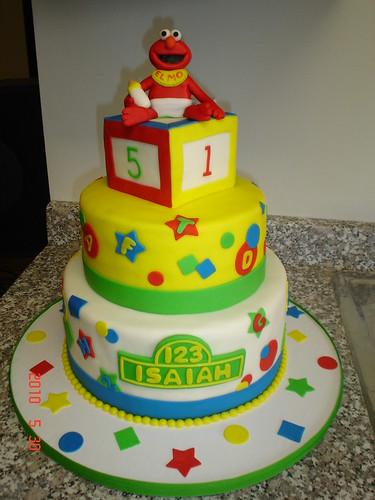 elmo baby shower cake by valscustomcakes