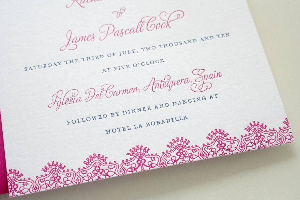 Spanish Wedding Invitations Examples: Spanish Lace Wedding Invitation