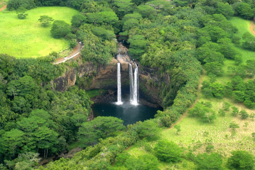 Kaua I Helicopter Tour Wailua Falls Wailua Falls