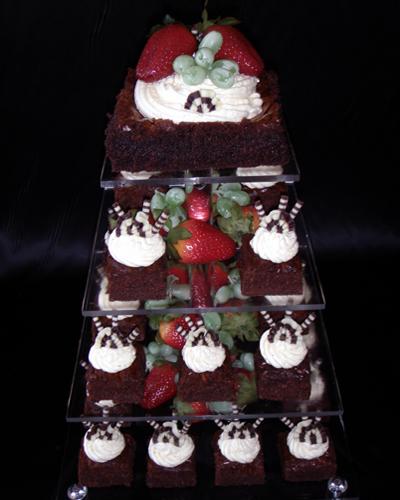 Chocolate Brownies Wedding Cake dessert   Suzanne Mawhinney   Flickr