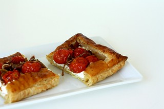 Roasted Tomato & Goat Cheese Tart | by Tracey's Culinary Adventures