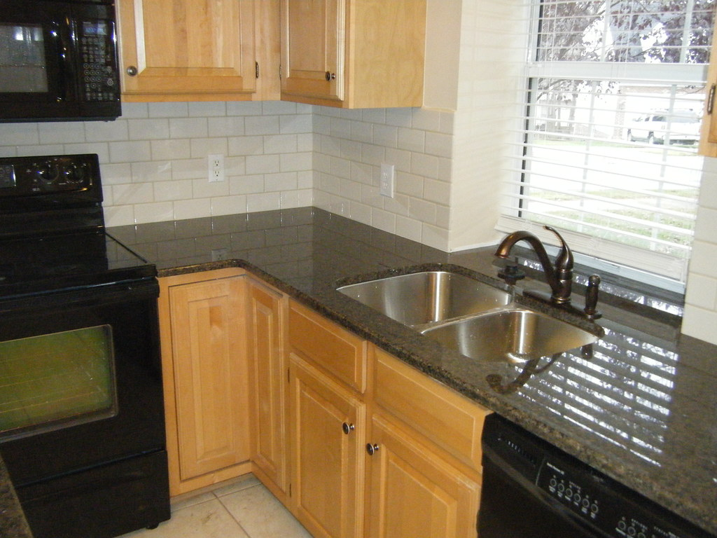 Awesome Tropic Brown Granite Backsplash Ideas Part - 8: ... Tropic Brown Granite Counter Top With Tile Backsplash | By Granite -charlotte