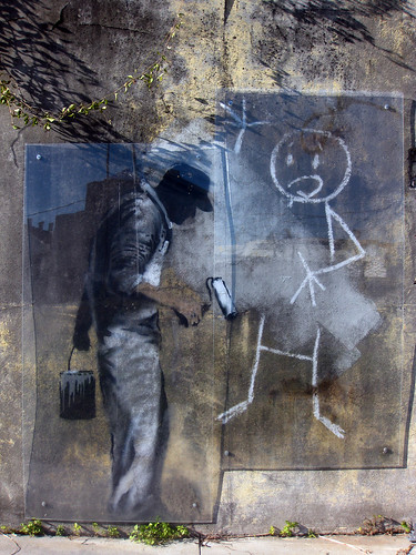 Banksy - Grey Ghost and Stickman | by kapshure