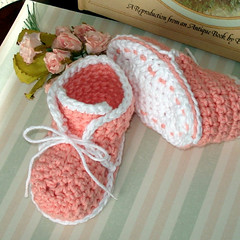 Crochet Baby High Top Bootie Pattern Free