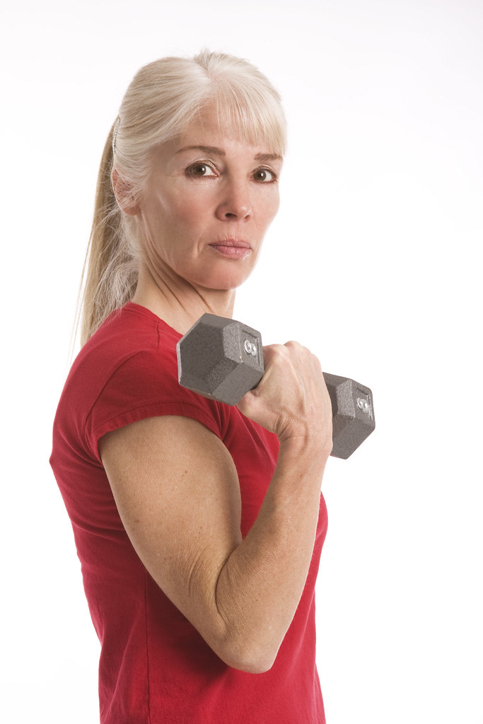 Woman Working Out  Attractive Middle-Aged Woman Working -3401