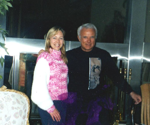 Justine Tenzeldam And Robert Conrad At His Home In Bear