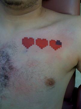 zelda hearts tattoo | my first 8-bit tattoo! | Steve ...